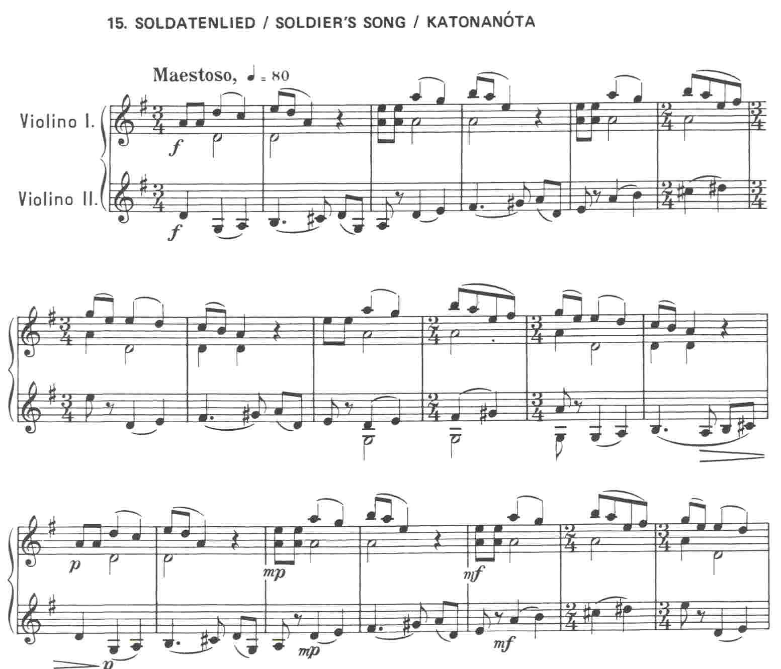 44 DUOS 1 (No 1-25) by Béla Bartók - two violins eNoty eu