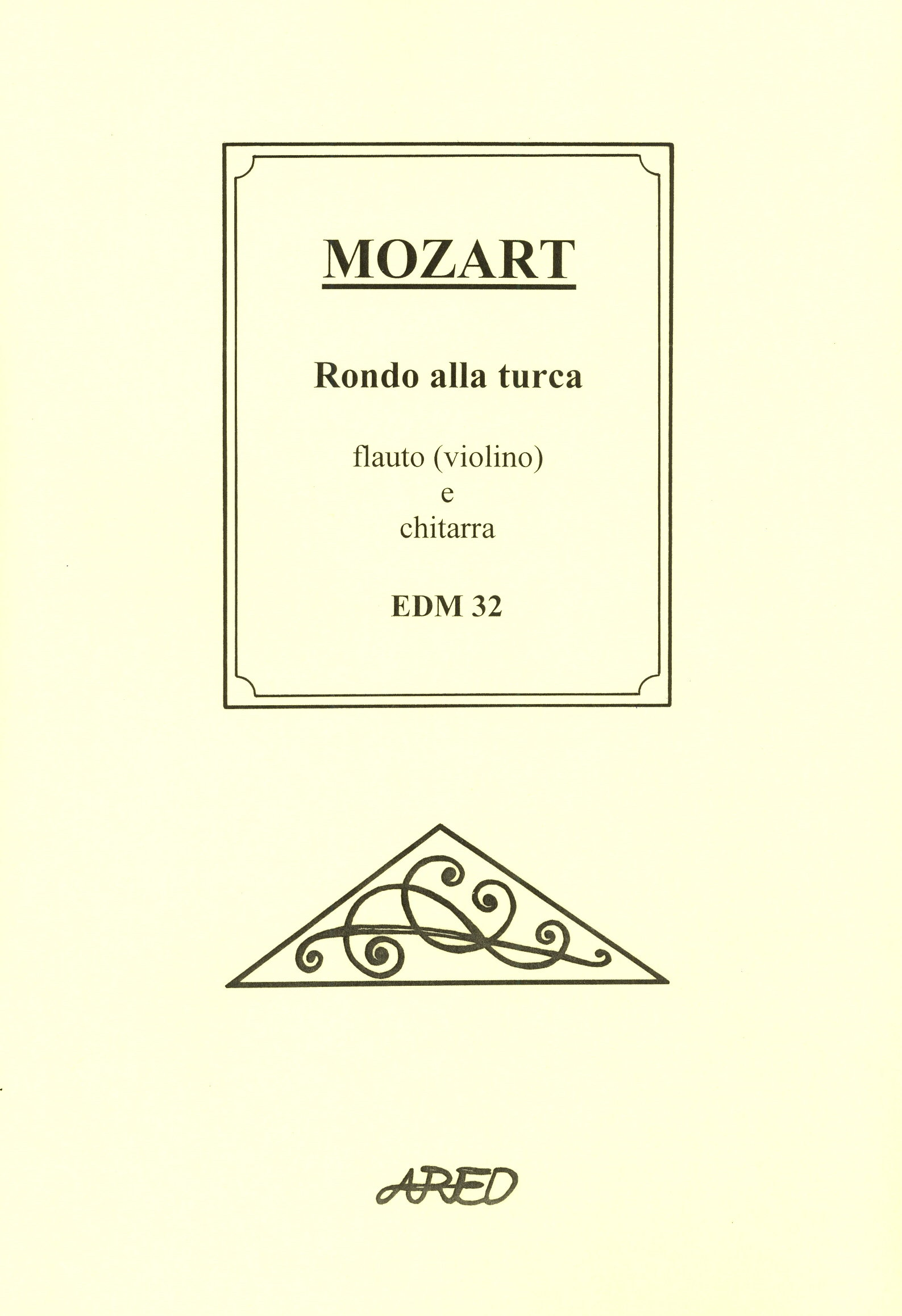 Alla Turca Mozart mozart - rondo alla turca / flute (violin) + guitar enoty.eu
