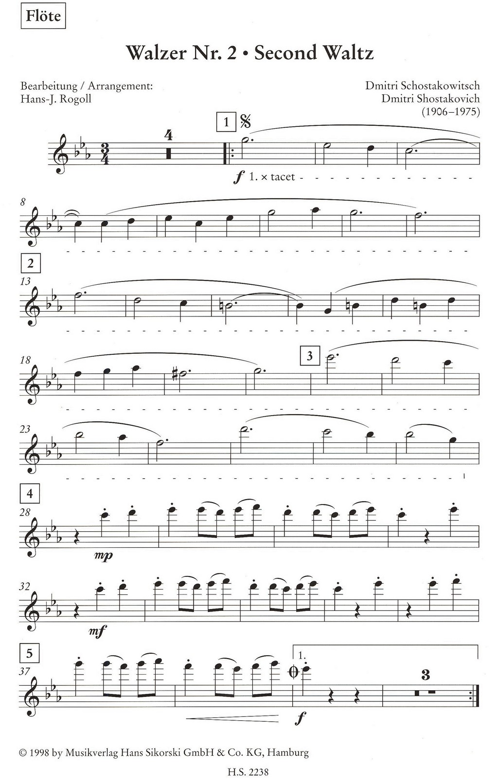 second-waltz-from-jazz-suite-no-2-by-dmitri-shosta eNoty eu