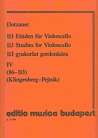 Dotzauer - 113 Studies for Violoncello, book 4 (studies 86-113)