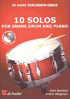 10 SOLOS FOR SNARE DRUM & PIANO + CD