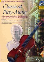 CLASSICAL PLAY ALONG + CD / housle a piano