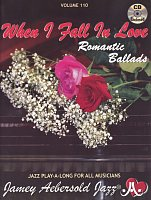 AEBERSOLD PLAY ALONG 110 - WHEN I FALL IN LOVE (Romantic Ballads) + CD