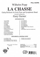 POPP: La Chasse (Galop Brillante) for Flute and Symphonic Band / full score