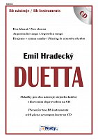 DUETTA - Emil Hradecký + CD // Bb hlas - pieces for two instruments- duets