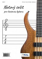 Manuscript Paper for Bass Guitar - 40 pages, 6 staves with tablature
