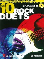 10 ROCK DUETS FOR ELECTRIC OR ACOUSTIC GUITAR + CD / kytara