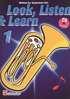 LOOK, LISTEN & LEARN 1 + CD / method for Euphonium B.C.