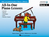 PIANO LESSONS - ALL IN ONE - book A + Audio Online (lessons, theory, technique, solos, practice games)