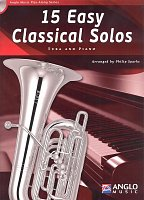 15 Easy Classical Solos + CD / tuba (BC / TC in Bb / TC in Eb) + klavír