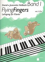 Flying Fingers 1 + 2x CD /  piano method, book 1