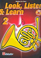 LOOK, LISTEN & LEARN 2 + CD method for horn