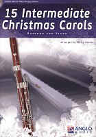 15 Intermediate Christmas Carols + CD / bassoon + piano