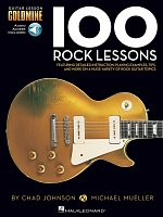 100 Rock Lessons + Audio Online / kytara + tabulatura