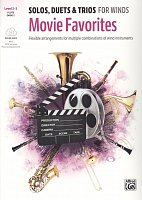 MOVIE FAVORITES: Solos, Duets & Trios for Winds + Audio Online / flute, oboe + piano (PDF)