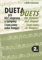 DUETS for drumset and timpani (tom-toms or bongos) by Libor Kubanek