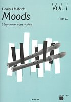 MOODS 1 by Daniel Hellbach + CD / 10 pieces for 2 soprano recorders + piano