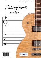 Manuscript Paper for Guitar - 40 pages, 5 staves with tablature
