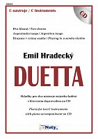 DUETTA - Emil Hradecký + CD // C hlas - pieces for two instruments - duets