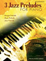 3 JAZZ PRELUDES FOR PIANO by William Gillock