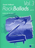 ROCK BALLADS 3 + CD / 6 pieces for the piano