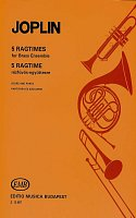 5 RAGTIMES by Scott JOPLIN     brass ensemble