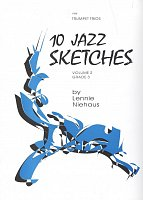 10 JAZZ SKETCHES 2 by Lennie Niehaus / trumpet trios