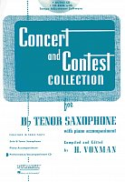 CONCERT & CONTEST COLLECTIONS for Tenor Sax - CD with piano accompaniment