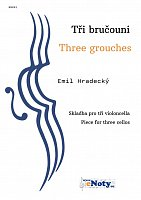 Three grouches - Emil Hradecký / piece for three cellos