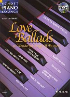 LOVE BALLADS (16 wonderful songs of passion) + CD // piano/chords