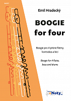 BOOGIE for four - Emil Hradecký / boogie for 4 flutes (+ bass & drums)