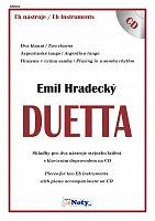 DUETTA - Emil Hradecký + CD // Eb hlas - pieces for two instruments - duets