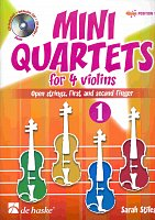 MINI QUARTETS 1 + CD  very easy violin quartets (position 1)