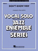Don't Know Why - Vocal Solo with Jazz Ensemble - partitura + party