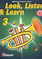 LOOK, LISTEN & LEARN 3 + CD  method for trumpet / trumpeta